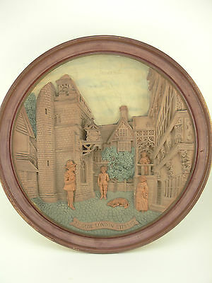 Antique/Vintage Plate Picture - Ceramic/Embossed/3D - Ye Old London Streete