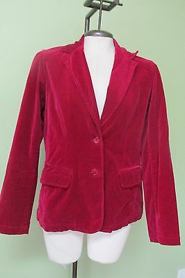 "Vintage 1970's Raspberry Pink Velvet Jacket/  38"" Bust/ Excellent Condition"