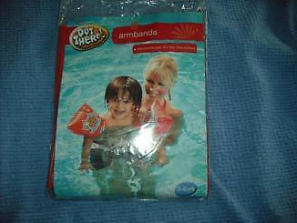 boys inflatable  swimming armbands age 3-6.red.new in pack