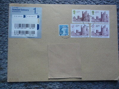 GB QEII Special Delivery 2014  Rate £6.40 Machin & 6 X Castle stamps