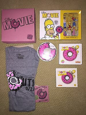 Simpsons MOVIE Lot of 5 DVD w/ Figures Soundtrack T-shirt Donut Boxed LIMITED