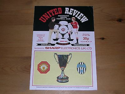 1983/84  MANCHESTER UNITED v JUVENTUS  EUROPEAN CUP WINNERS' CUP SEMI-FINAL