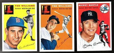1994/1954 Topps Archives Set -259 Cards includes 2 Williams and 1 Mantle