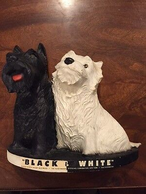 1950's Black & White Scotch Whiskey Scottie Terrier Dogs Advertising Bar Display
