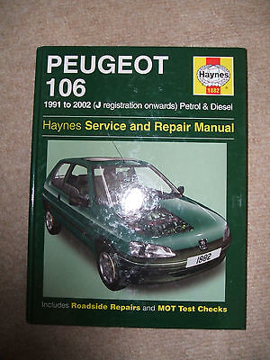 Peugeot  106 1991 To 2002  New Haynes Car Manual Free Uk Post