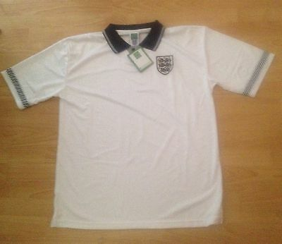 BNWT England Italia 1990 Retro Football Shirt XL Score Draw