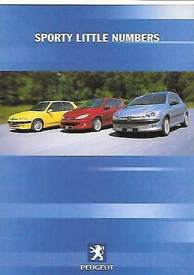 Peugeot 106 And 206 'sporty' Accessories Sales Brochure July 2000
