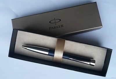 Parker Urban Midnight Blue Chrome Trim Ball Pen gift boxed