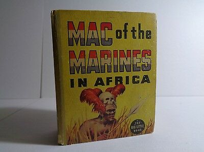 Mac of the Marines in Africa 1189 (GVG) Whitman 1936 Big Little Book (c#12342)