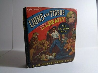 Lions and Tigers 653 (VG) Whitman 1934 Photo Scenes Big Little Book BLB (c#12335