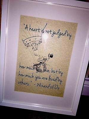 Vintage Wizard Of Oz QUOTE Art picture LOVE UNFRAMED