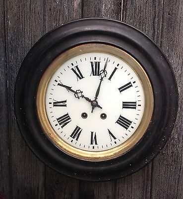 French School Station Dial Clock Circa 1900 For Restoration