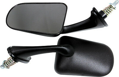 SPI Oval Shape Snowmobile Side Mirrors Pair For Polaris Black 12-165-02
