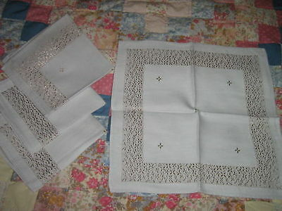 4 ELEGANT Taupe DOUBLE DAMASK NAPKINS   12 in square