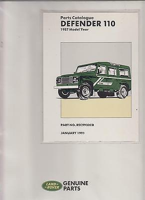 Land Rover Defender 110 Original 1987 Factory Spare Parts Catalogue