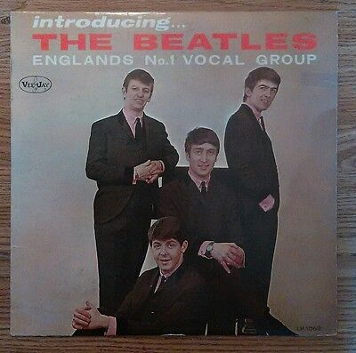 """""""Introducing The Beatles"""" vers 2 1964 LP with no comma on Please Please Me vg"""