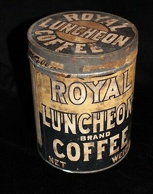 Vintage Advertising Tin Royal Luncheon Coffee