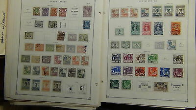 Netherlands and Col.  stamp collection on various pages / stock