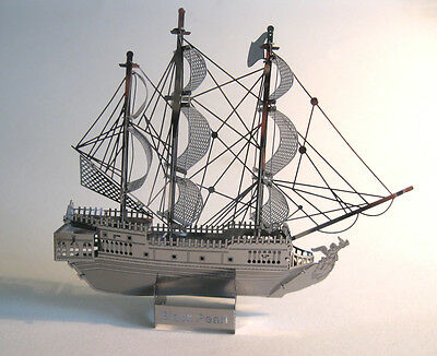 Pirate Ship Metal Model Black Pearl Laser Cut Office Desktop Decor