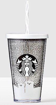 New 2016 Starbucks Holiday Acrylic Winter Polar Bears 16Oz Cup With Straw In Box