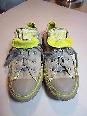 Converse All Star Classic Gray/Yellow Lace Up Sneakers Size Women's 5 Men's 3