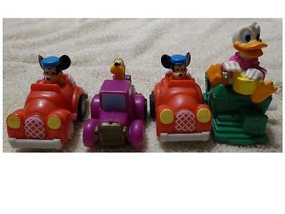 90s Disney Pull Back and Windup Cars - Pluto, Mickey, Donald Duck  - Used