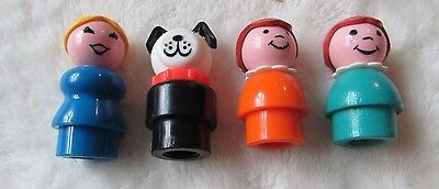 Vintage Fisher Price - little people figures – Dog and 3 women