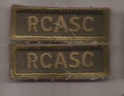 RCASC CANADA Royal Canadian Army service Corps combat shoulder titles patches