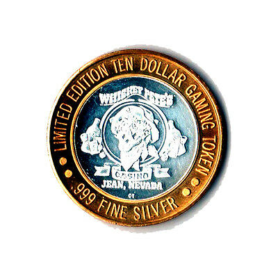 Limited Edition Whiskey Pete's Bonnie & Clyde .999 $10 Silver Casino Token