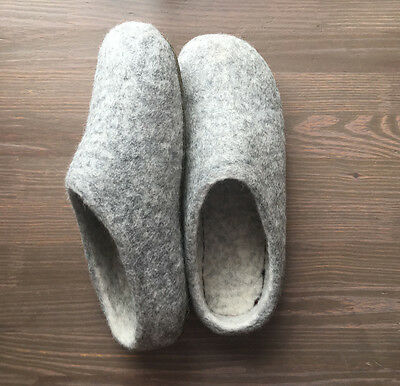 Felted Wool Slippers Size (Women's) 8.5 Winter Comfortable Shoes