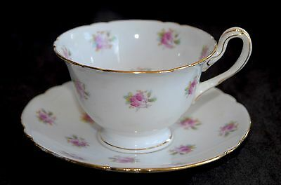 Antique Wileman Foley (Pre Shelley) SPRIG OF ROSES Demitasse Cup & Saucer