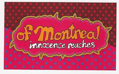 Of Montreal Sticker 2016 OFFICIAL PROMO Innocence Reaches NEW MINT Cheap!