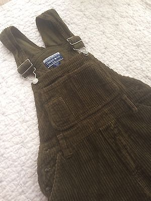 GIRLS SIZE 10 Olive Green Wide Wale CORDUROY - LIMITED TOO - BIBS