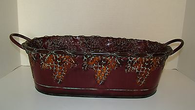 Large Oval Toleware Tin Cachepot Planter