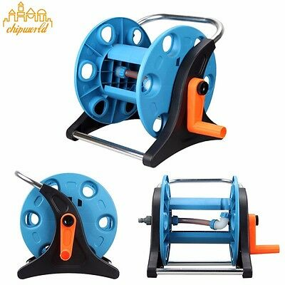 1PC Portable Hose Reel Pipe Storage Holder Stand Hose Car for Garden Watering