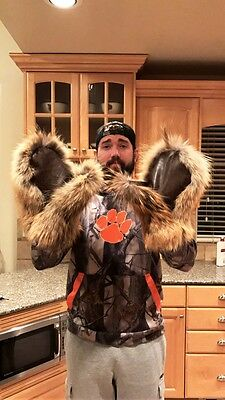 Men's XLarge Unique Handmade Hand Sewn 100% Coyote Fur Mittens VERY NICE MITTENS