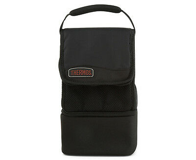 Thermos Expandable Dual Compartment Insulated Lunch Cooler Bag - Black