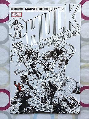 Hulk #1 | NM | Exclusive Ed McGuinness BW&Red Cover Swipe Variant | X23 Deadpool