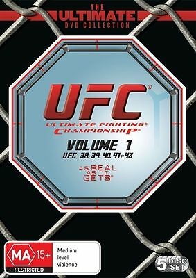 UFC DVD Ultimate Collection Vol 1 (5-DISC SET) UFC 38-UFC 42 R4 BRAND NEW SEALED