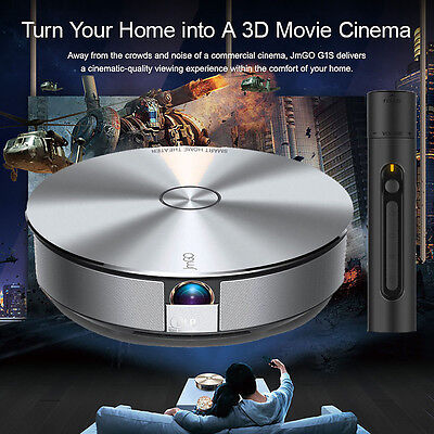 JmGO G1 Home Theater HD Projector 3D Wifi Bluetooth TV Android 1500LM 1080P