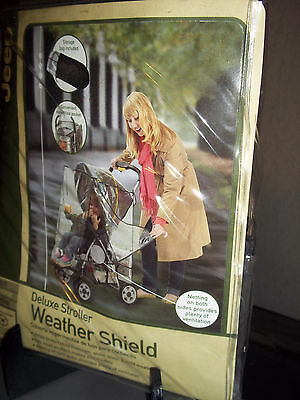 Jeep Deluxe Stroller Weather Shield Side Netting Pocket Storage Bag New