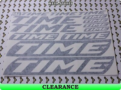 !CLEARANCE! TIME Stickers Decals Bicycles Cycles Frames BMX Mountain 47