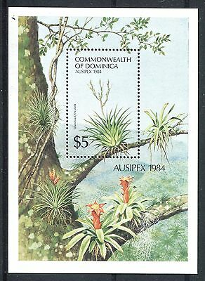 Dominica  1984 Ausipex Exhibition Flowers MS MNH
