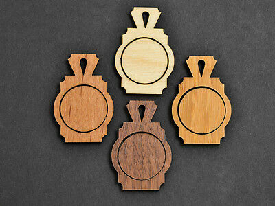 1″ Embroidery Hoop Art Deco Pendants Small 25mm Laser Cut Engraved Wood EHPAD-25