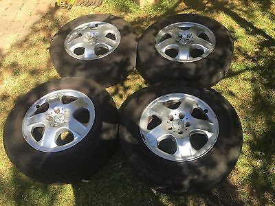 5 Spoke 17' Alloy Rims And Tyres.  Mercedes ML 270. 5 Stud May Fit Other Brands.