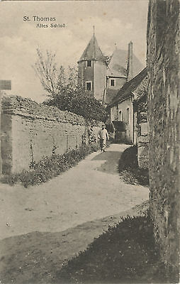German WW1 Postcard, Soldier, St Thomas, Old Castle, 1914-1918