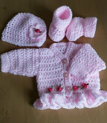 Baby Annabelle Dolls Clothes Handmade Cardigan Set-Twinkle pink