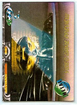 Batman Forever - Metal Video Game Preview Card A-1 - Acclaim  - Fleer - 1995