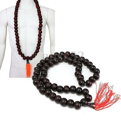 Shaolin Buddhist Monk Prayer Peach Wood Beads Necklace for Kung fu Uniforms Suit