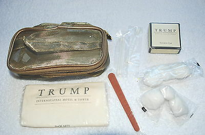 Trump International Hotel & Tower Vanity Kit - Shoe Mitt, Shower Cap, Ear Buds